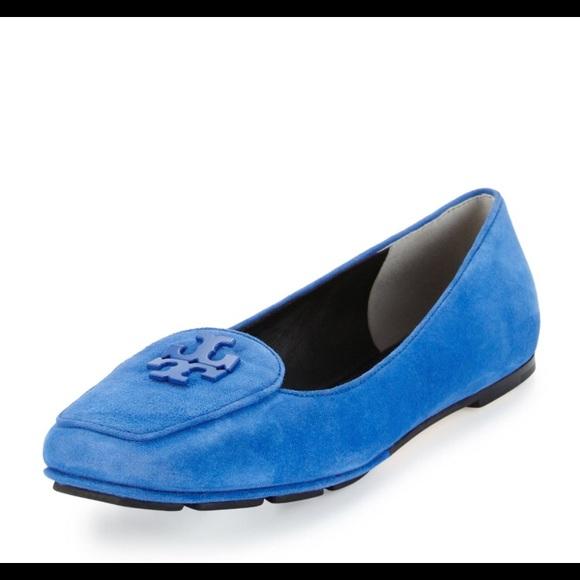 b5f9a18dbd0 Tory Burch Fitz Blue Suede Loafers. M 5b70a899fb38033c871961ec